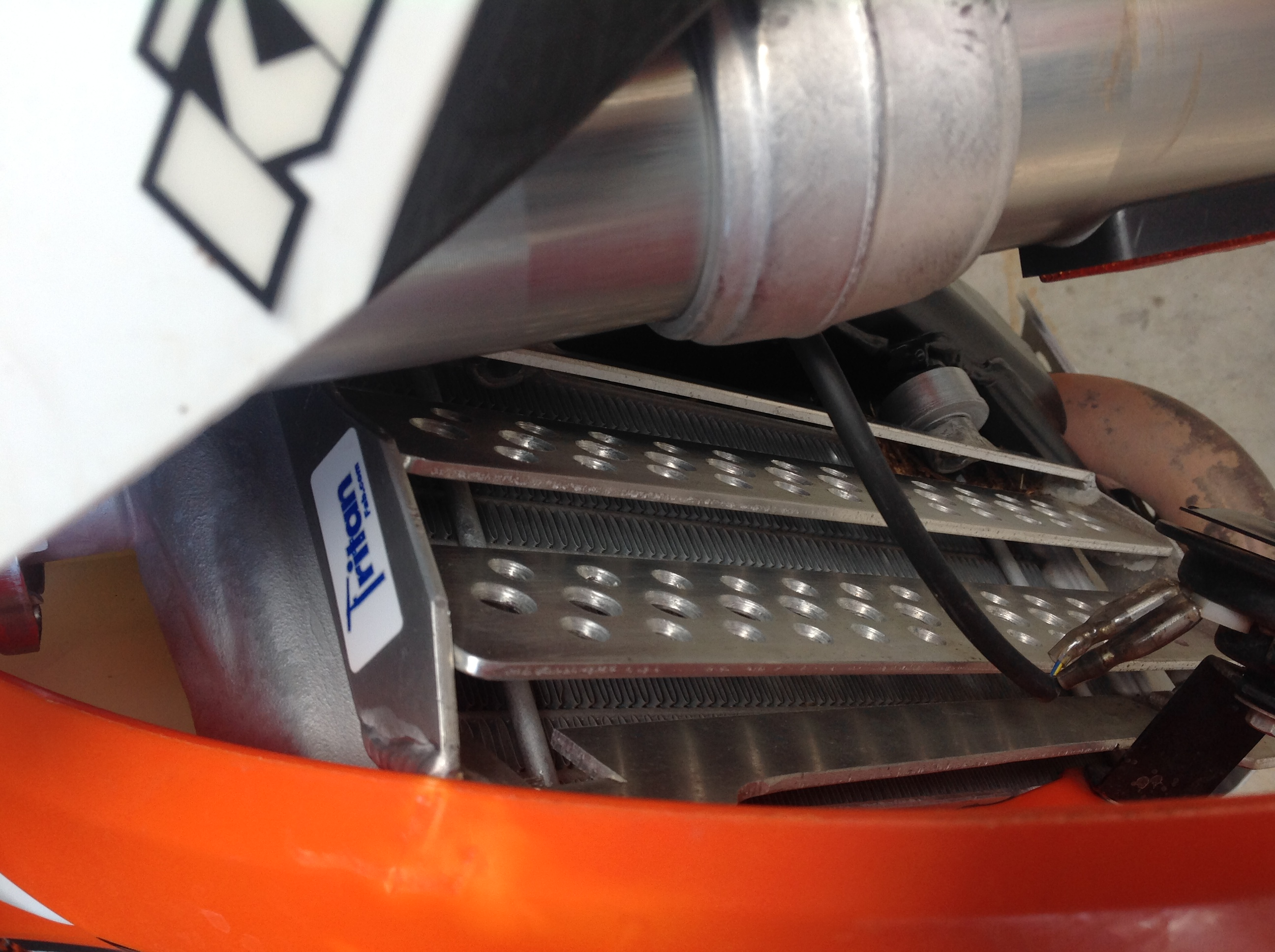 KTM Radiator Guards - Custom Motorcycle parts