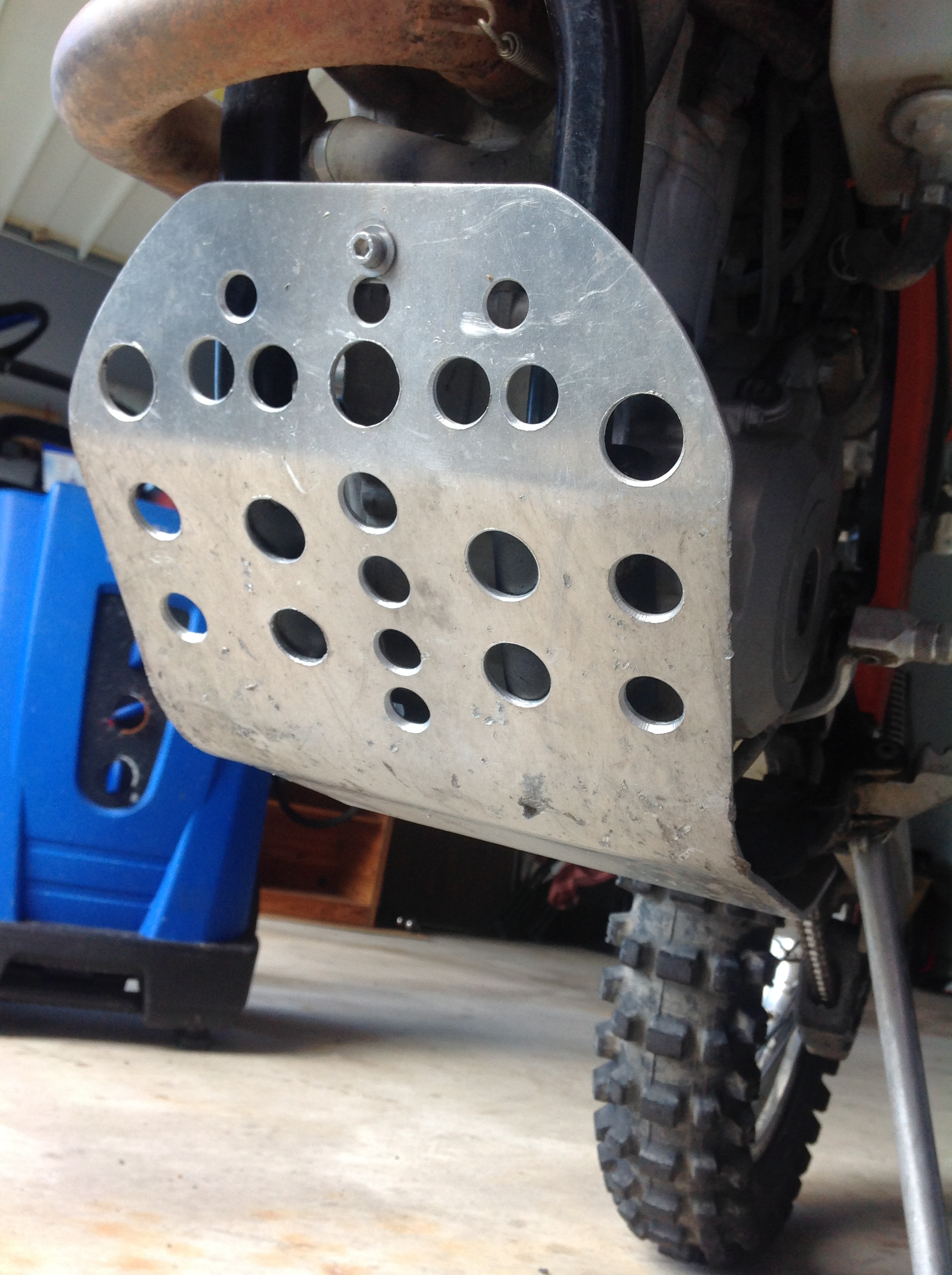 Custom Motorcycle Skid Plate