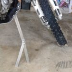 Off Road Motorcycle Stand Closeup