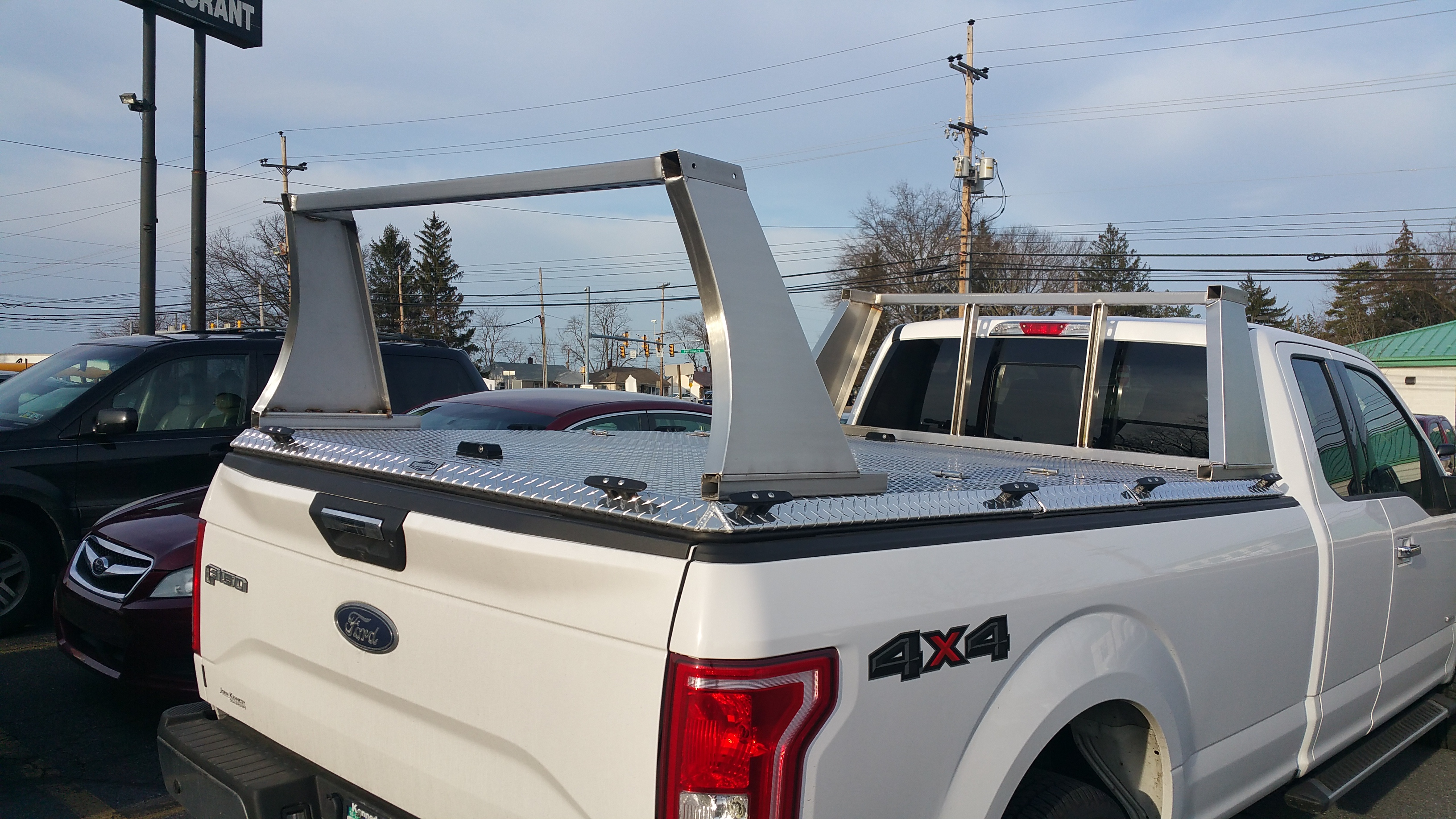 F150 Pickup Truck Rack closeup